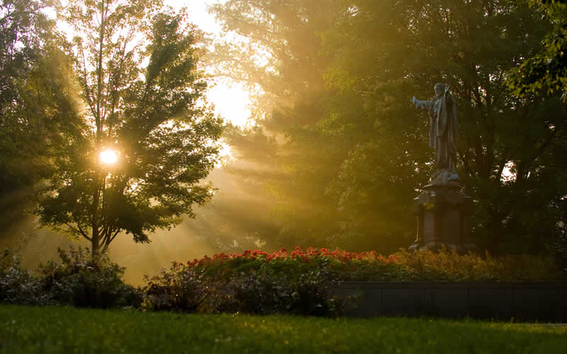 Sacred Heart at Dawn