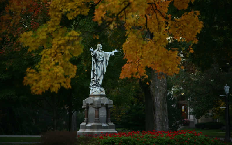 Sacred Heart in autumn